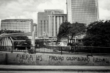 Wall in the Avenida Principal de Colinas de Bello Monte. Reproduces one of the opposing slogans that justified the illegality of Maduro as president. Caracas, 11/13/2017
